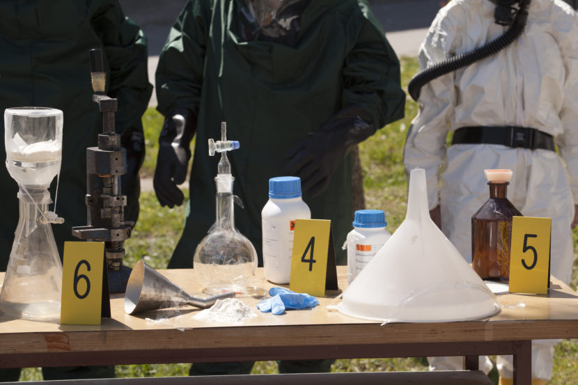 meth cleanup, lab paraphernalia