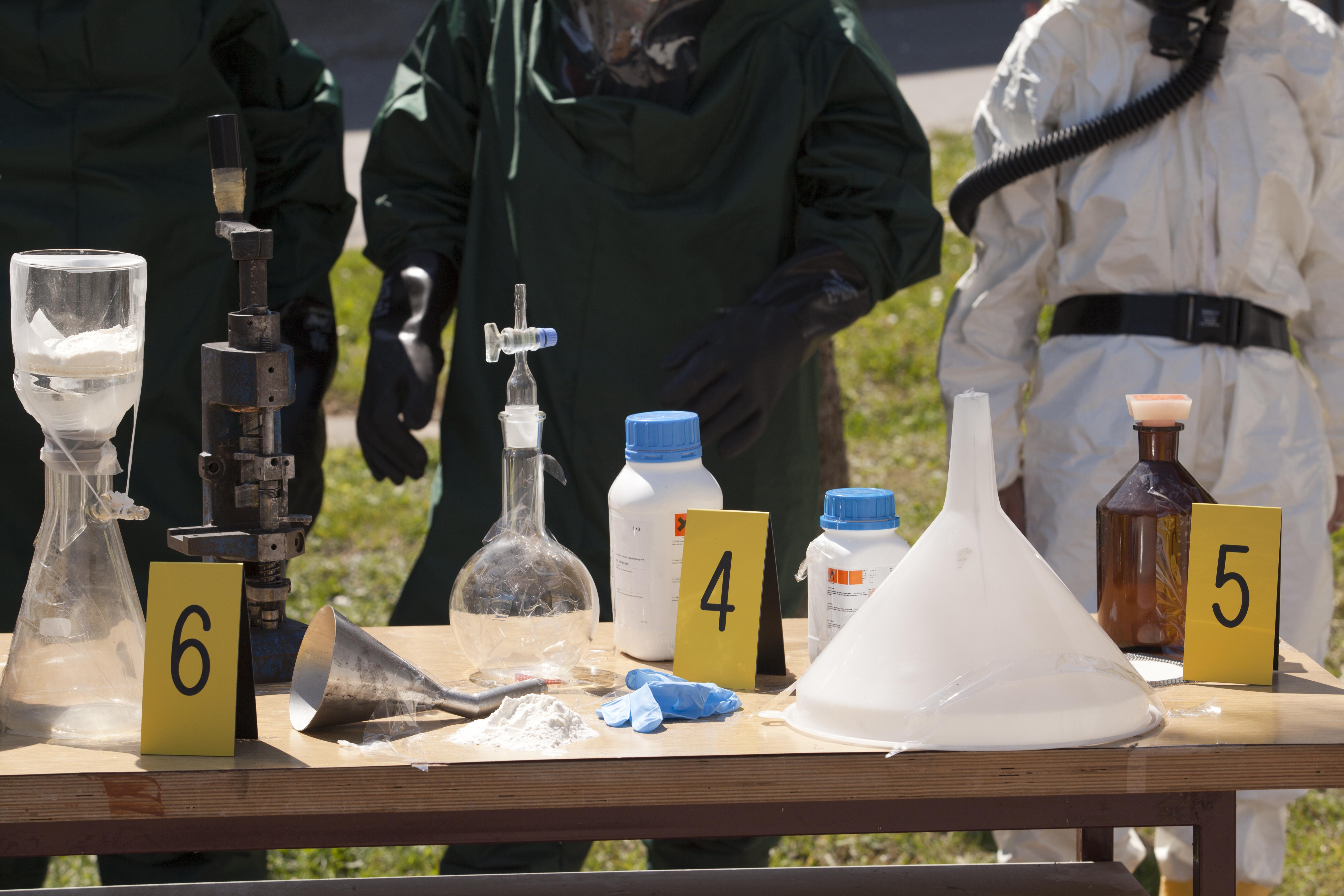 meth cleanup, lab paraphernalia